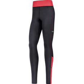 GORE WEAR R3 Thermo Leggings Dames, black/hibiscus pink